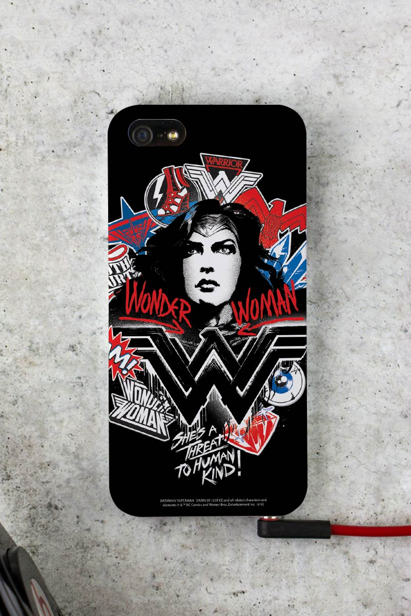 Capa para iPhone 5/5S Wonder Woman She´s a Threat