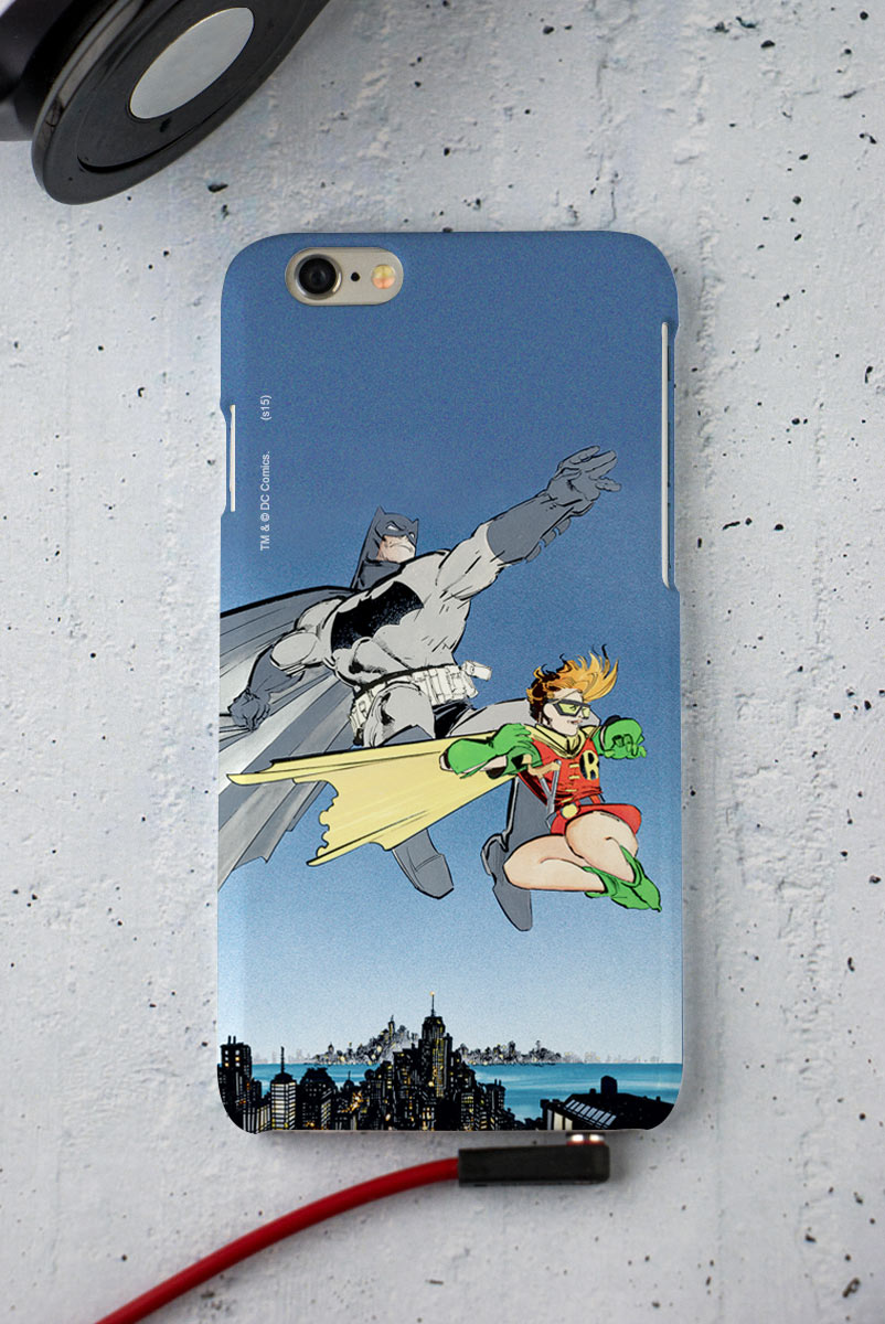 Capa para iPhone 6/6S Tracing Batman e Robin