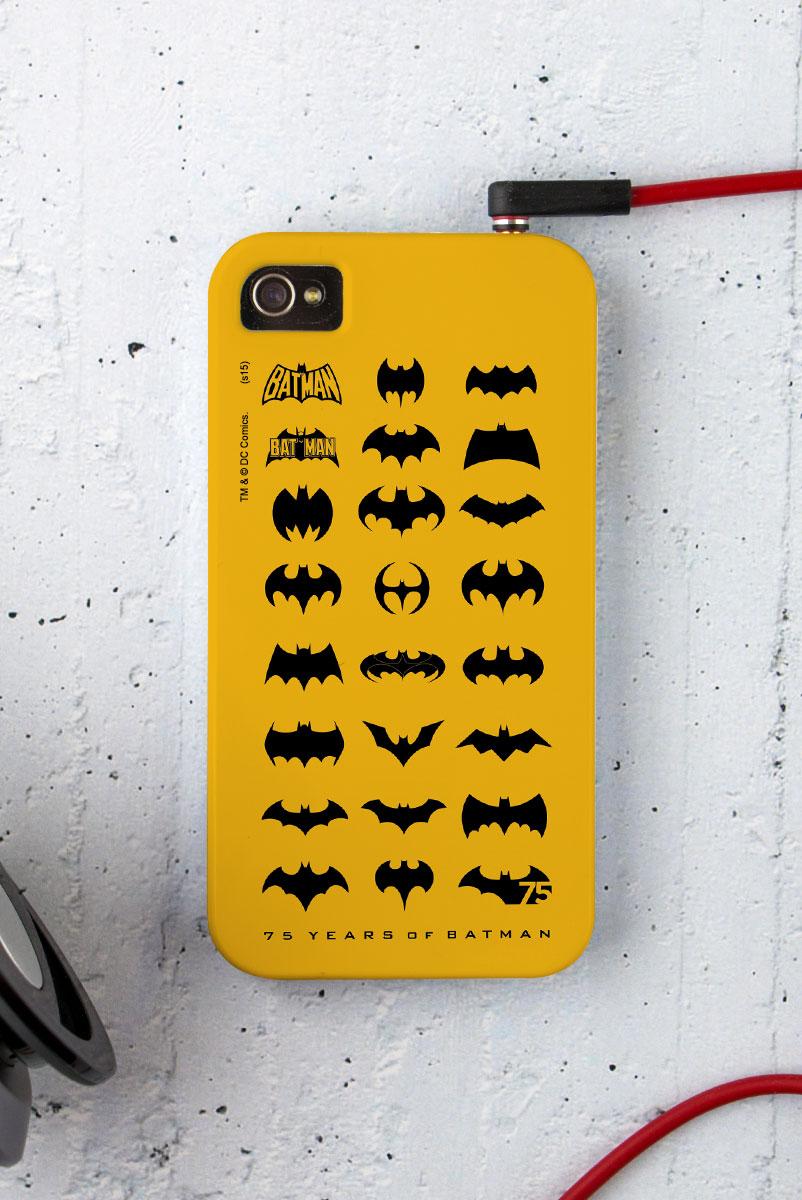 Capa para iPhone 4/4S Batman 75 Anos Logos Collection