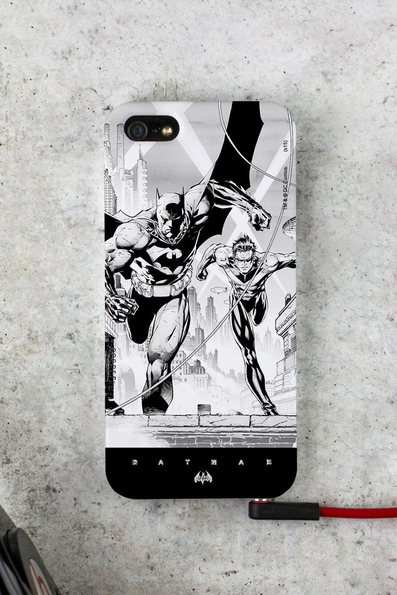 Capa para iPhone 5/5S Tracing Batman e Robin