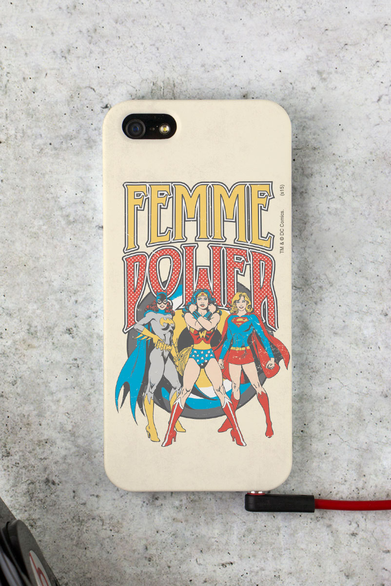 Capa Para iPhone 5/5S Power Girls Femme Power