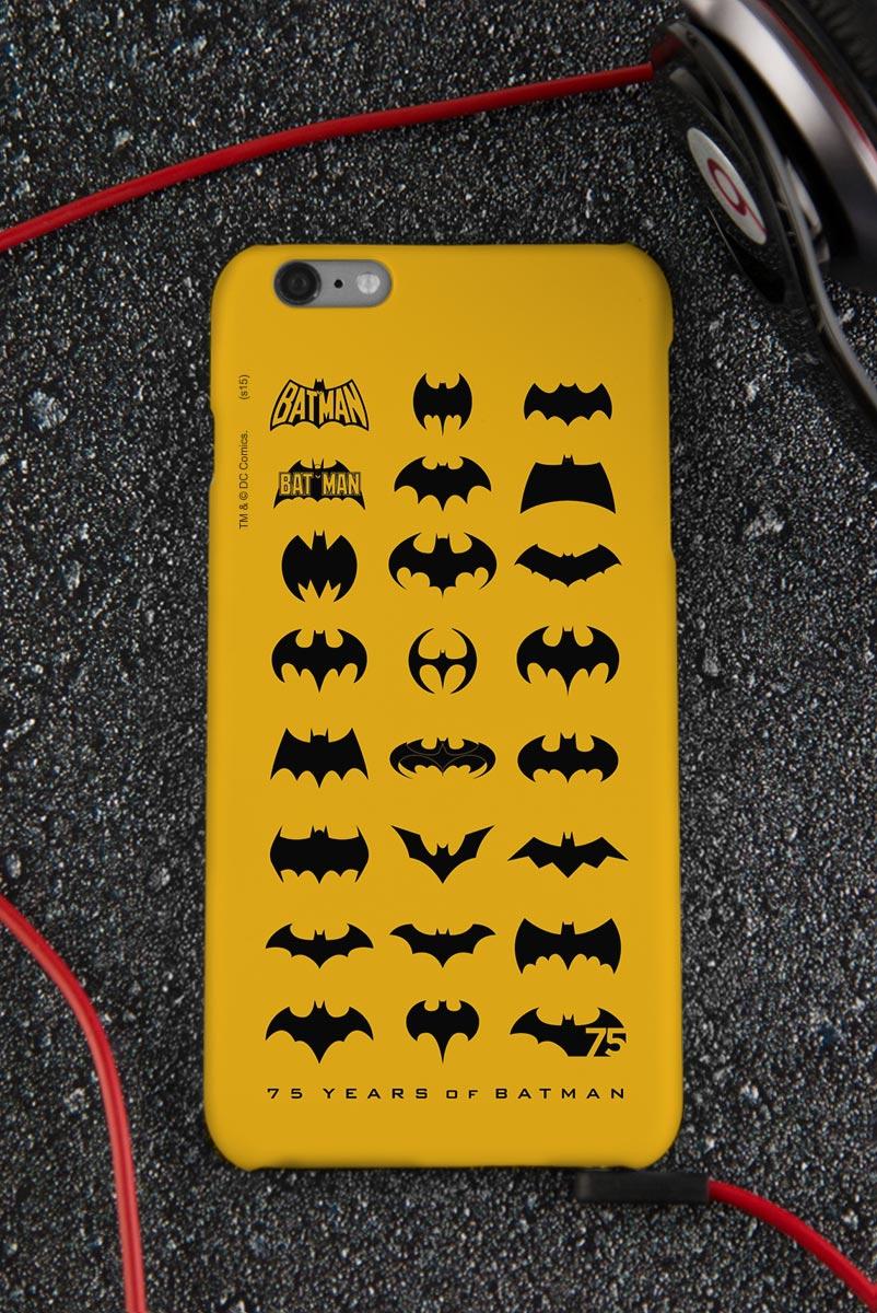 Capa para iPhone 6/6S Plus Batman 75 Anos Logos Collection