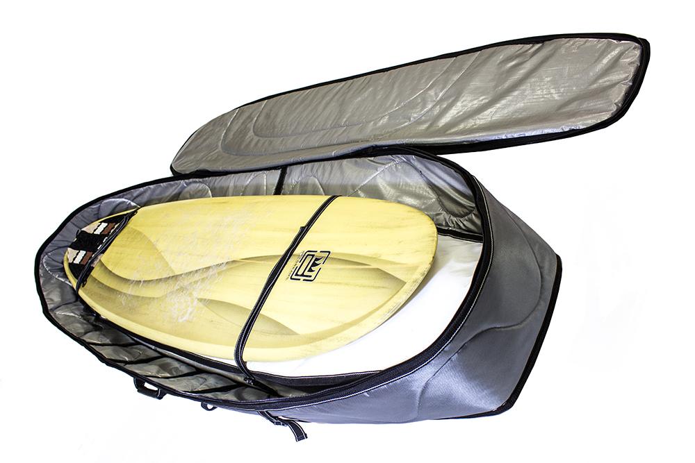 Sarcófago Duplo para Kitesurf  1,75m x 0,61m x 0,25m com Roda