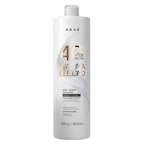 Água Oxigenada Estabilizada Wanna Be Blond 40 Volumes 900ml -Braé