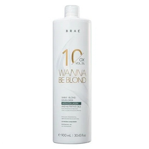 Água Oxigenada Wanna Be Blond 10 Volumes 900ml  Braé