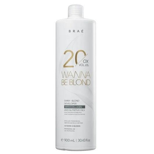 Água Oxigenada Wanna Be Blond 20 Volumes 900ml  Braé
