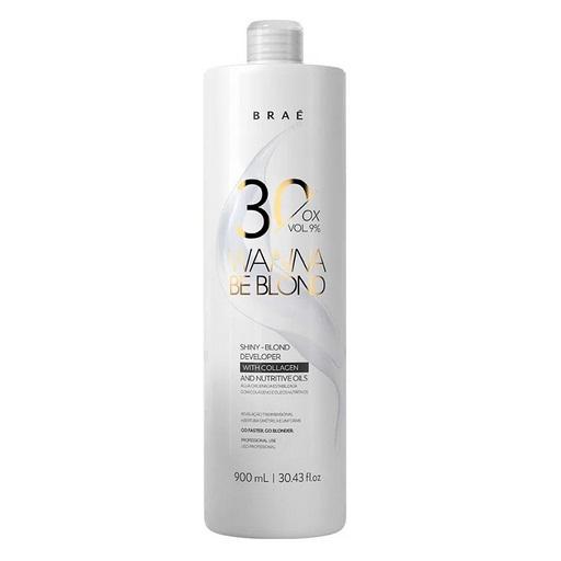 Água Oxigenada Wanna Be Blond 30 Volumes 900ml -Braé