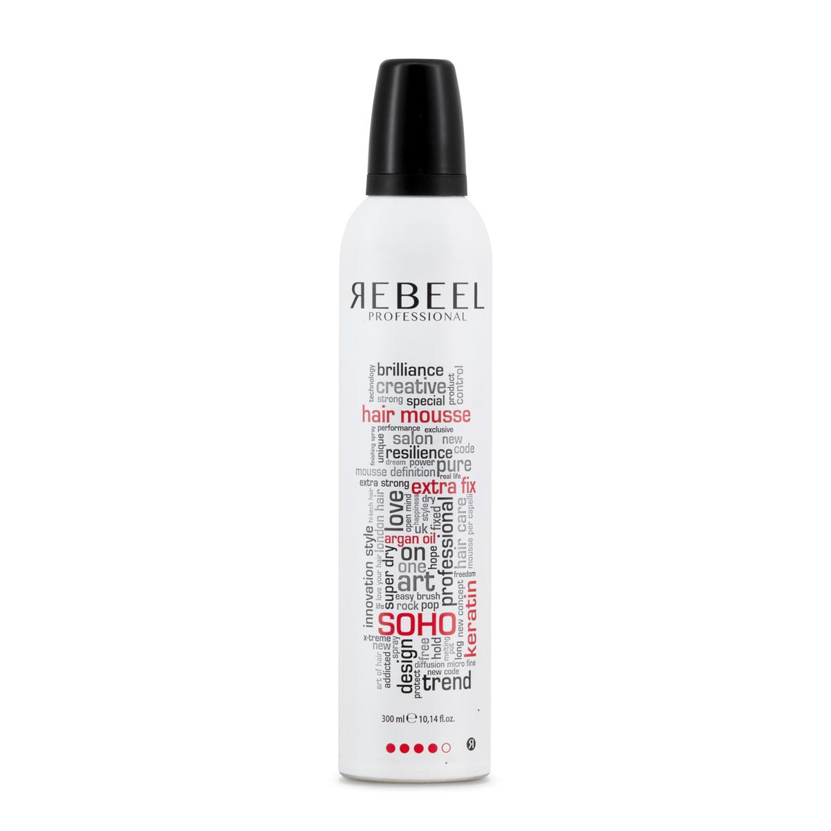 Hair Mousse Extra Fix 300ml  Rebeel Soho