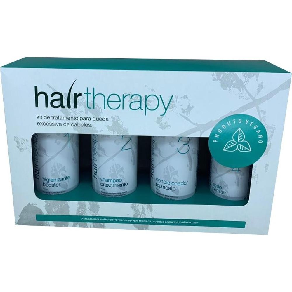 Kit de tratamento p/ queda excessiva de cabelos  calvície - Hair Therapy