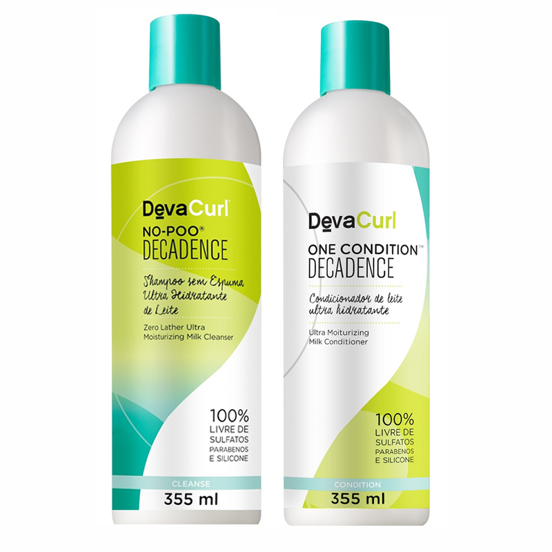Kit Deva Curl Decadence No-Poo+One Condition 355 ml  - Beleza Outlet