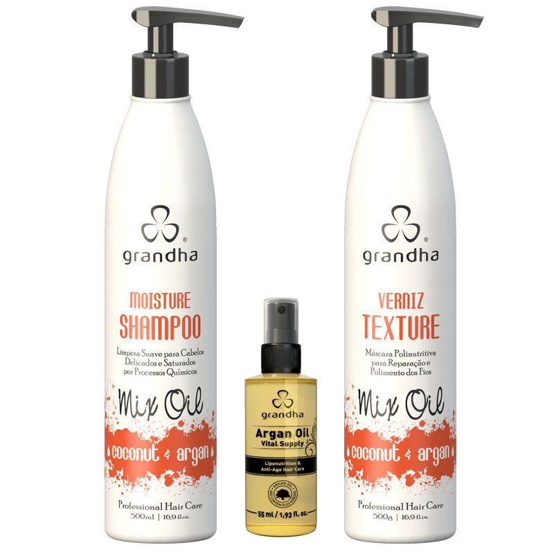 KIT GRANDHA MIX OIL COCONUT & ARGAN (Grande)  - Beleza Outlet