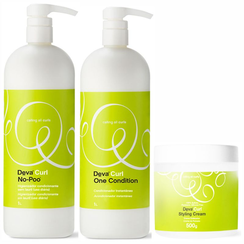 Kit Litro Deva Curl + Styling Cream 500g  - Beleza Outlet