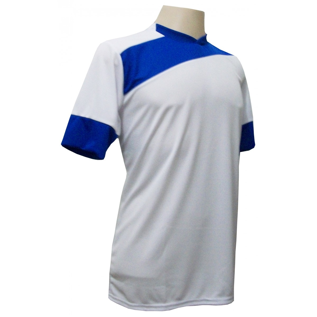 Jogo de Camisa com 14 unidades modelo Sporting Branco/Royal + Brindes