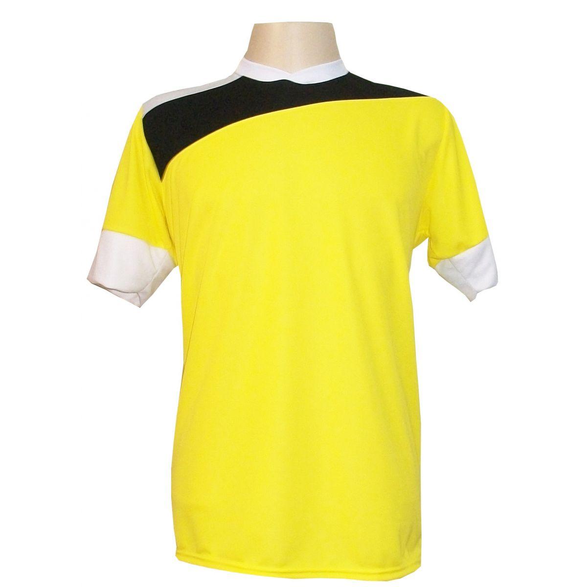 Jogo de Camisa com 14 unidades modelo Sporting Amarelo/Preto/Branco
