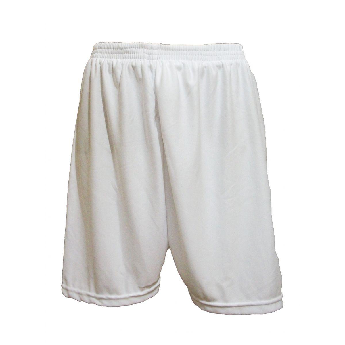 Uniforme Esportivo com 14 camisas modelo Sporting Branco/Vermelho + 14 calções modelo Madrid Branco + Brindes