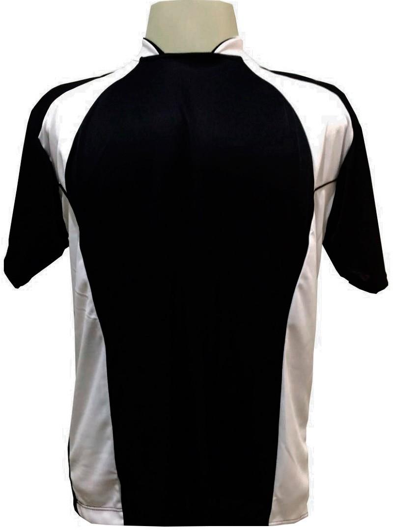 Jogo de Camisa com 14 unidades modelo Suécia Preto/Branco + Brindes