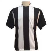 Jogo de Camisa com 12 unidades modelo Milan Preto/Branco + Brindes