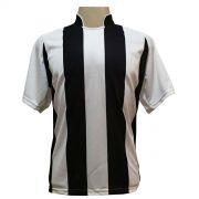 Jogo de Camisa com 12 unidades modelo Milan Branco/Preto + Brindes