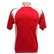 Jogo de Camisa com 14 unidades modelo Suécia Vermelho/Branco + Brindes