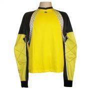 Camisa de Goleiro Profissional modelo Paraí Tam G Nº 1 - Amarelo/Preto - Kanxa