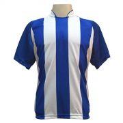 Jogo de Camisa com 12 unidades modelo Milan Royal/Branco + Brindes
