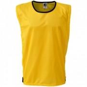 Colete Esportivo de Treinamento com Viés e Elástico - Cor Amarelo