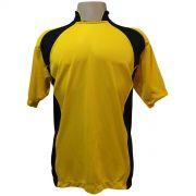 Jogo de Camisa com 14 unidades modelo Suécia Amarelo/Preto + Brindes