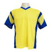 Jogo de Camisa Promocional com 18 Peças Numeradas Modelo Attack Amarelo/Royal - Frete Grátis Brasil