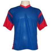 Jogo de Camisa Promocional com 12 Peças Numeradas Modelo Attack Royal/Vermelho