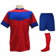 Fardamento Completo Modelo Columbus 18+1 (18 Camisas Vermelho Royal + 18  Calções 87db62e8a7408