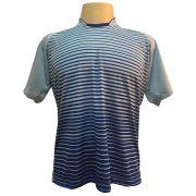 Jogo de Camisa com 12 unidades modelo City Celeste/Royal + Brindes