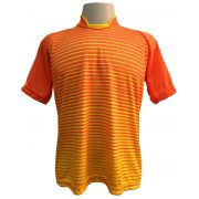 Jogo de Camisa com 12 unidades modelo City Laranja/Amarelo + Brindes