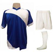 e0cfdbd48e Fardamento Completo modelo Bélgica 20+1 (20 camisas Royal Branco + 20  calções