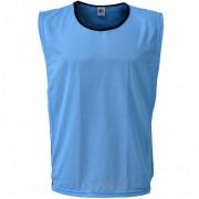 Colete Esportivo de Treinamento com Viés e Elástico - Cor Azul Celeste