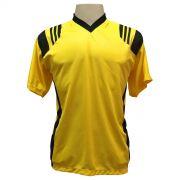 Jogo de Camisa com 12 unidades modelo Roma Amarelo/Preto + Brindes