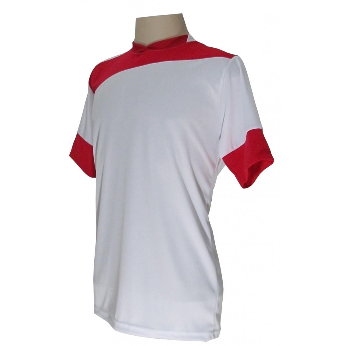 56f70f18ef175 ... Uniforme Esportivo com 14 camisas modelo Sporting Branco Vermelho + 14  calções modelo Madrid + ...