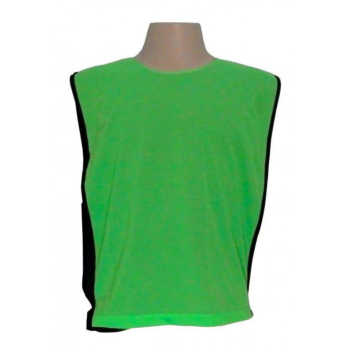 Jogo de Coletes Dupla Face 06 Unidades na cor Verde Limão/Preto