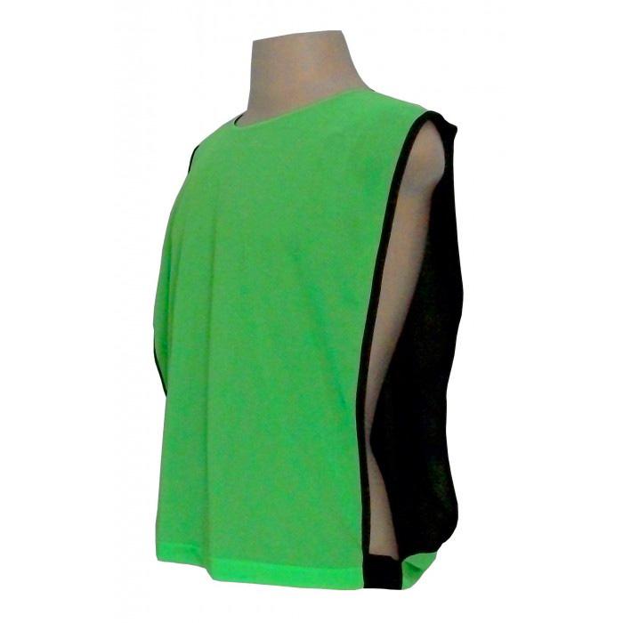 Jogo de Coletes Dupla Face 10 Unidades na cor Verde Limão/Preto