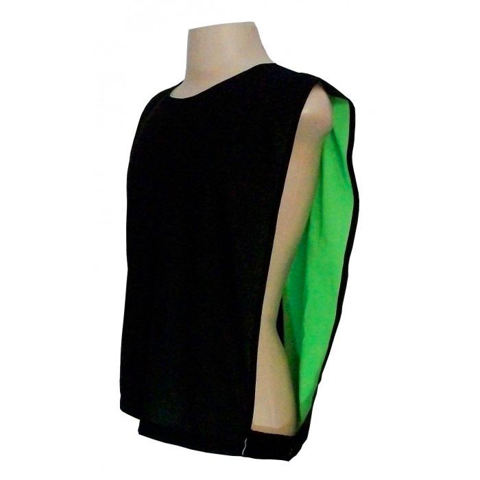 Jogo de Coletes Dupla Face 15 Unidades na cor Verde Limão Preto 6c0961c3d8831