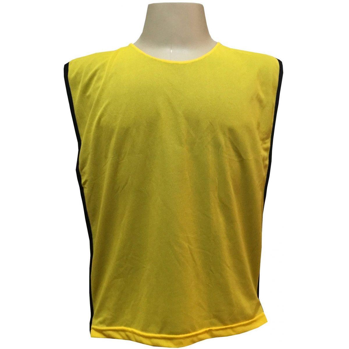 Jogo de Coletes Dupla Face 15 Unidades na cor Amarelo/Preto