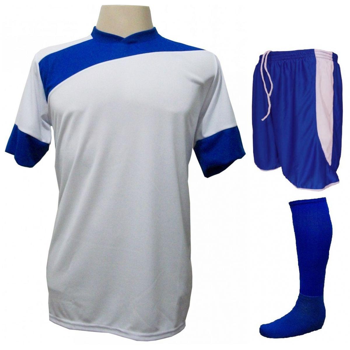 ffd497e42b Uniforme Esportivo Completo modelo Sporting 14+1 (14 camisas Branco Royal + 14  calções modelo Copa Royal Branco + 14 pares de meiões Royal + 1 conjunto de  ...