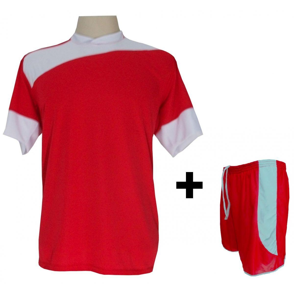 4c860c32e9991 Uniforme Esportivo com 14 camisas modelo Sporting Vermelho Branco + 14  calções modelo Copa + ...