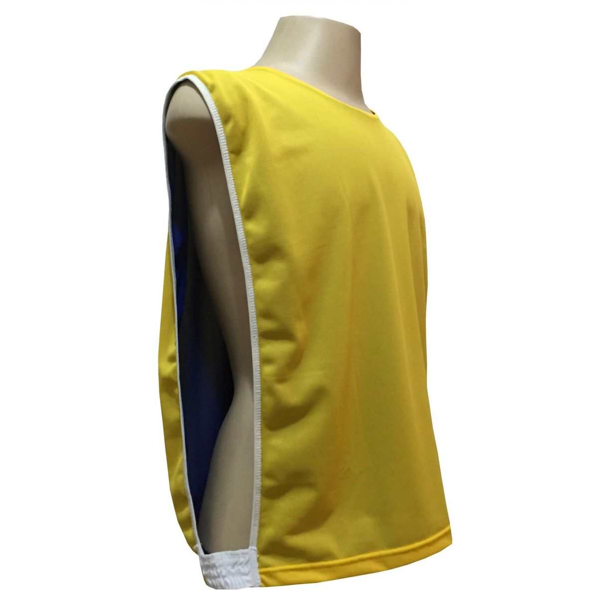 Jogo de Coletes Dupla Face 06 Unidades na cor Amarelo/Royal
