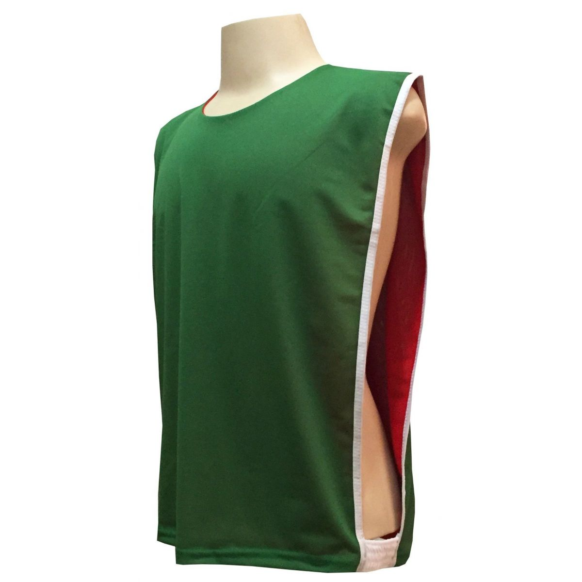 Jogo de Coletes Dupla Face 06 Unidades na cor Verde/Vermelho