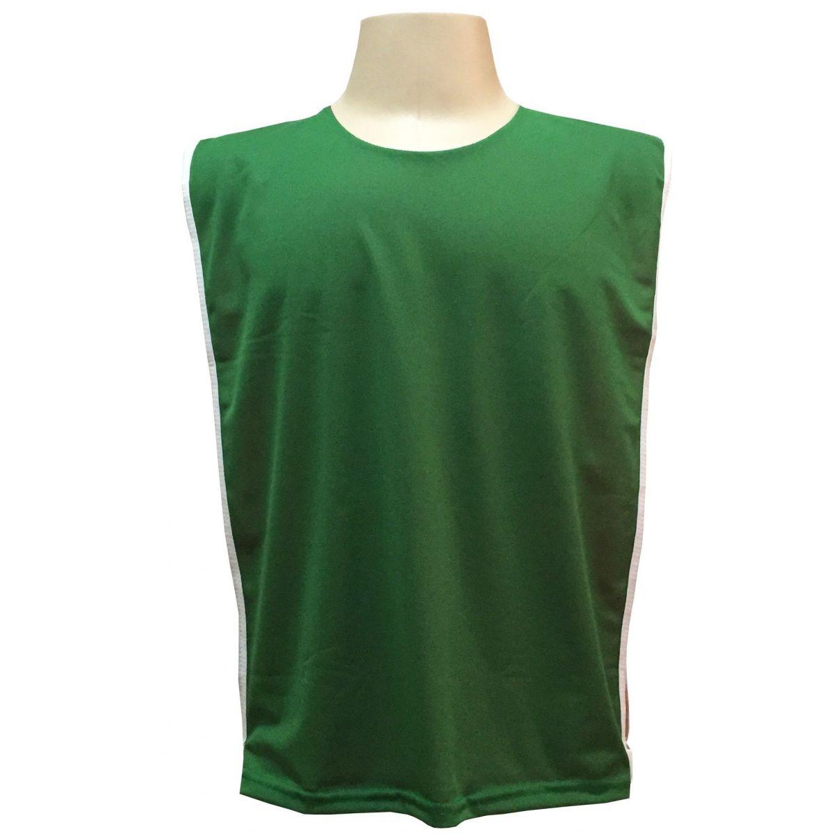 Jogo de Coletes Dupla Face 15 Unidades na cor Verde/Vermelho