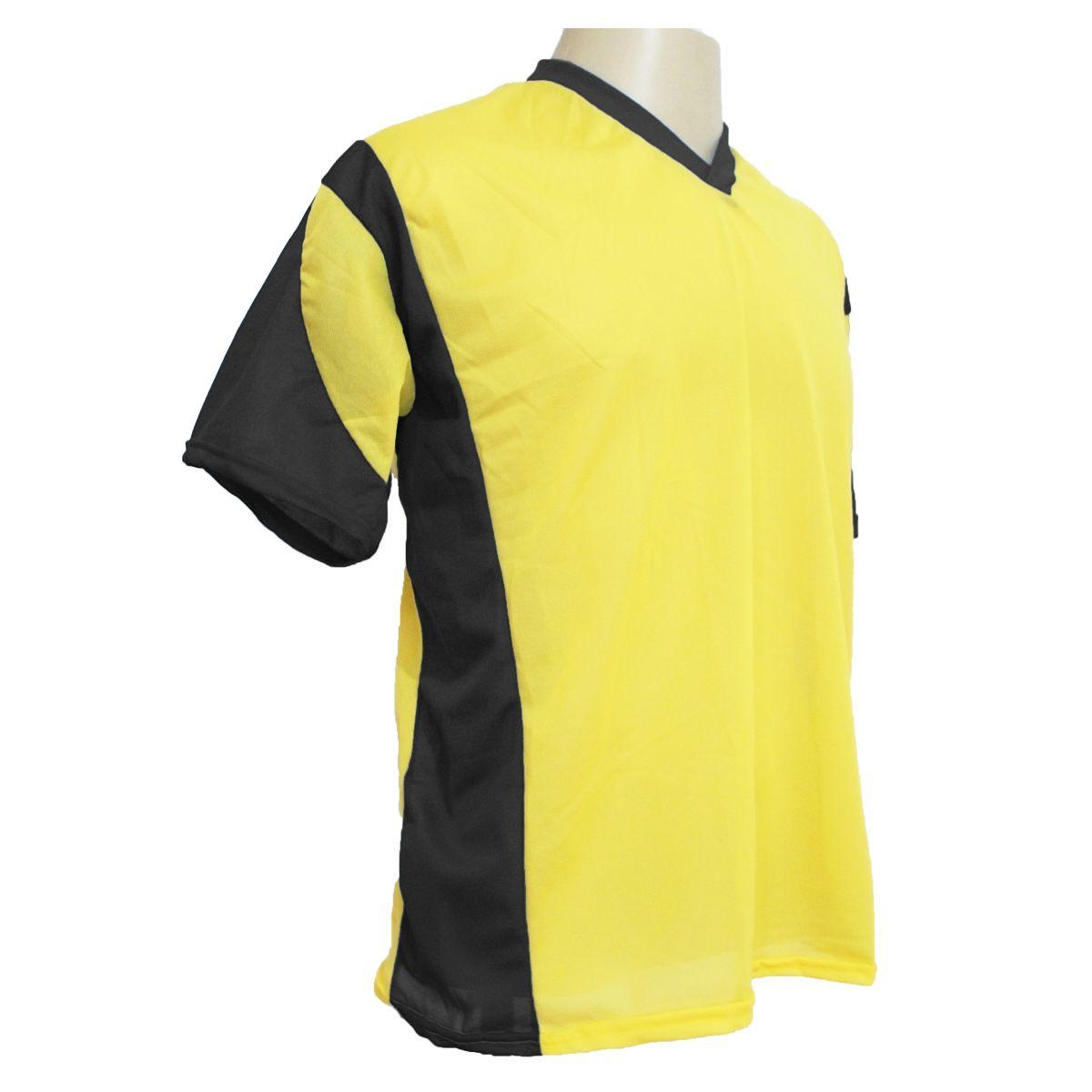 Jogo de Camisa Promocional com 18 Peças Numeradas Modelo Attack Amarelo/Preto - Frete Grátis Brasil