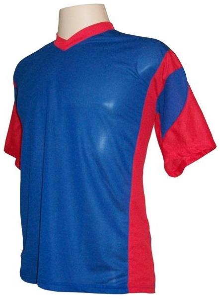 Jogo de Camisa Promocional com 18 Peças Numeradas Modelo Attack Royal/Vermelho
