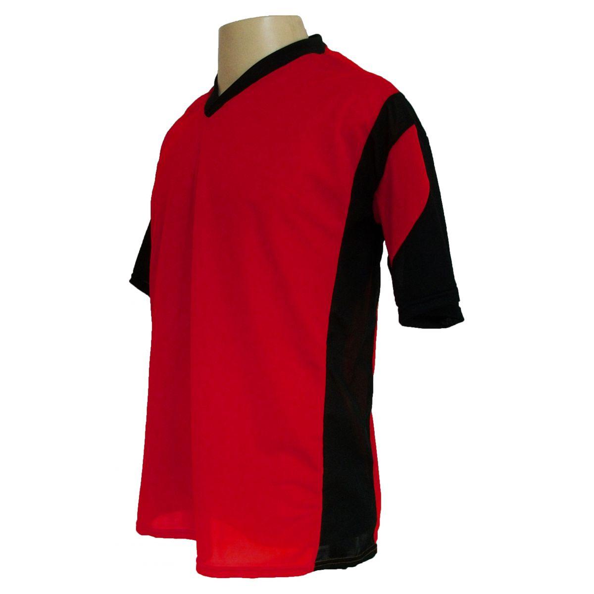 Jogo de Camisa Promocional com 18 Peças Numeradas Modelo Attack Vermelho/Preto