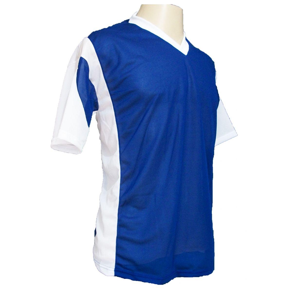 Jogo de Camisa Promocional com 18 Peças Numeradas Modelo Attack Royal/Branco - Frete Grátis Brasil