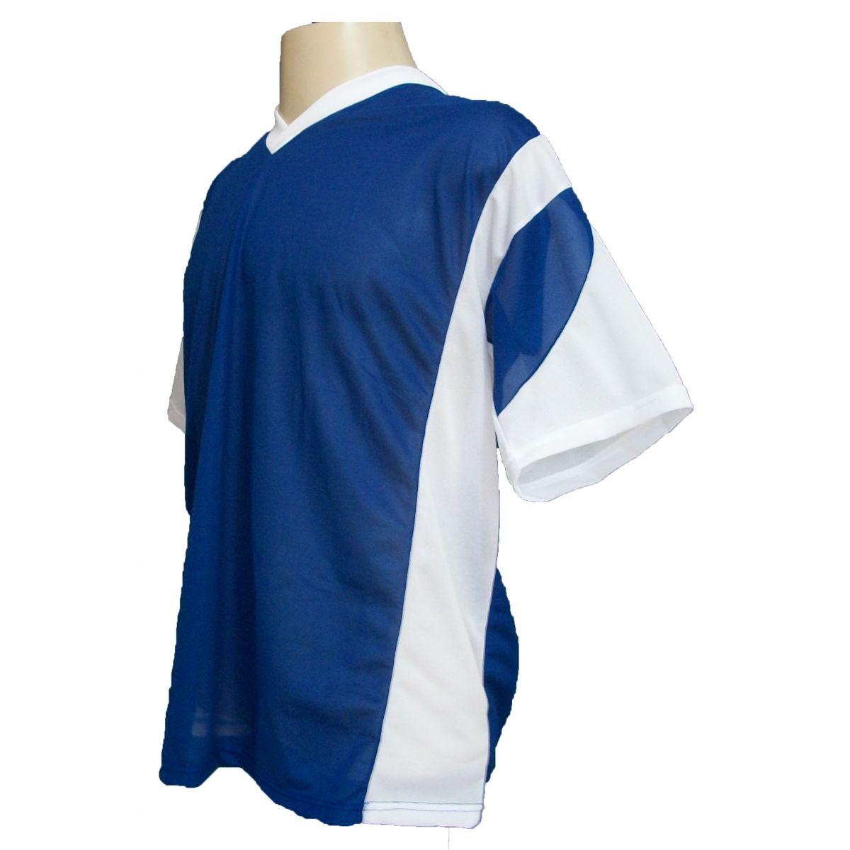 Jogo de Camisa Promocional com 18 Peças Numeradas Modelo Attack Royal/Branco